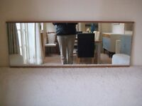 Stylish Retro Large Teak Framed Hall / Overmantle Mirror from the 1960s - Excellent condition