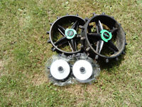 Winter Wheels for Hill Billy Electric Trolley - Front and back - used for one winter only.
