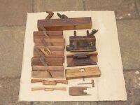 Wooden carpenters tools