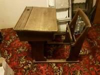 Old victorian school desk