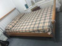 Double bed and orthopedic bed needs to go asap a small plank on the base is broken which can be fix