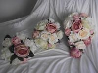 Wedding Bouquet and Bridesmaid Posies