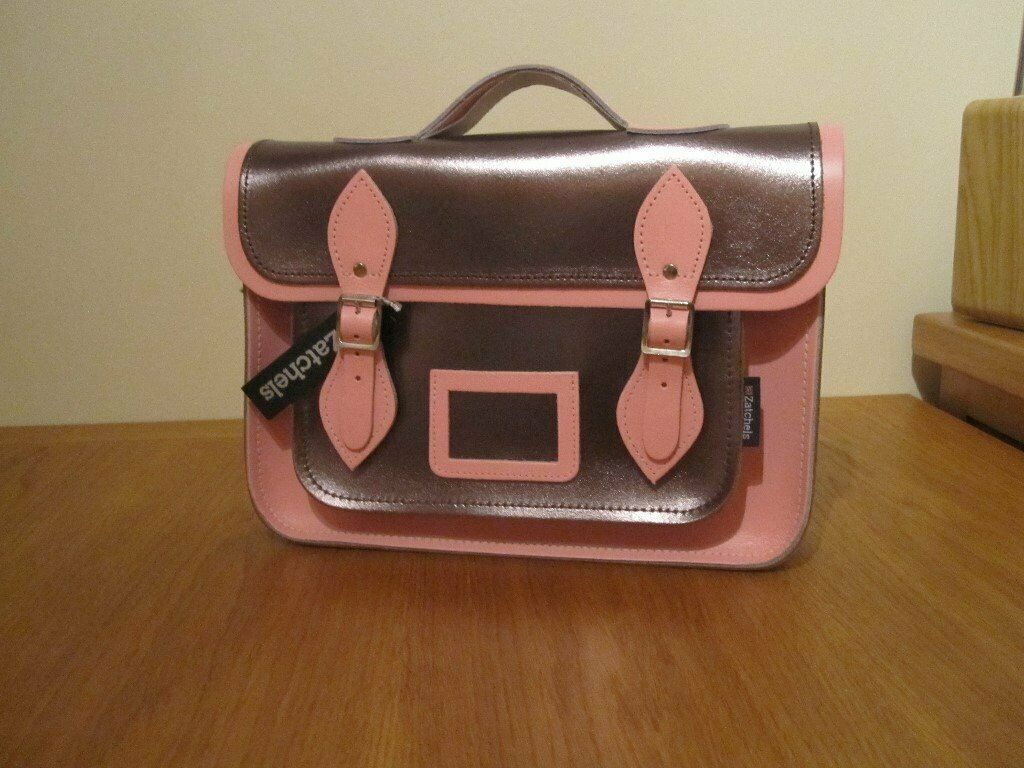 34a165ab4171 Zatchels Limited Edition Metallic And Pastel Pink Leather Satchel Bag – New  with Tags