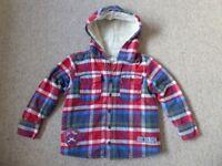 Boys M&S fleecy hooded jacket age 5-6