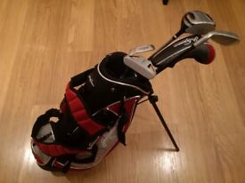 jack Nicklaus kids Junior Golf Clubs & stand bag set good condition
