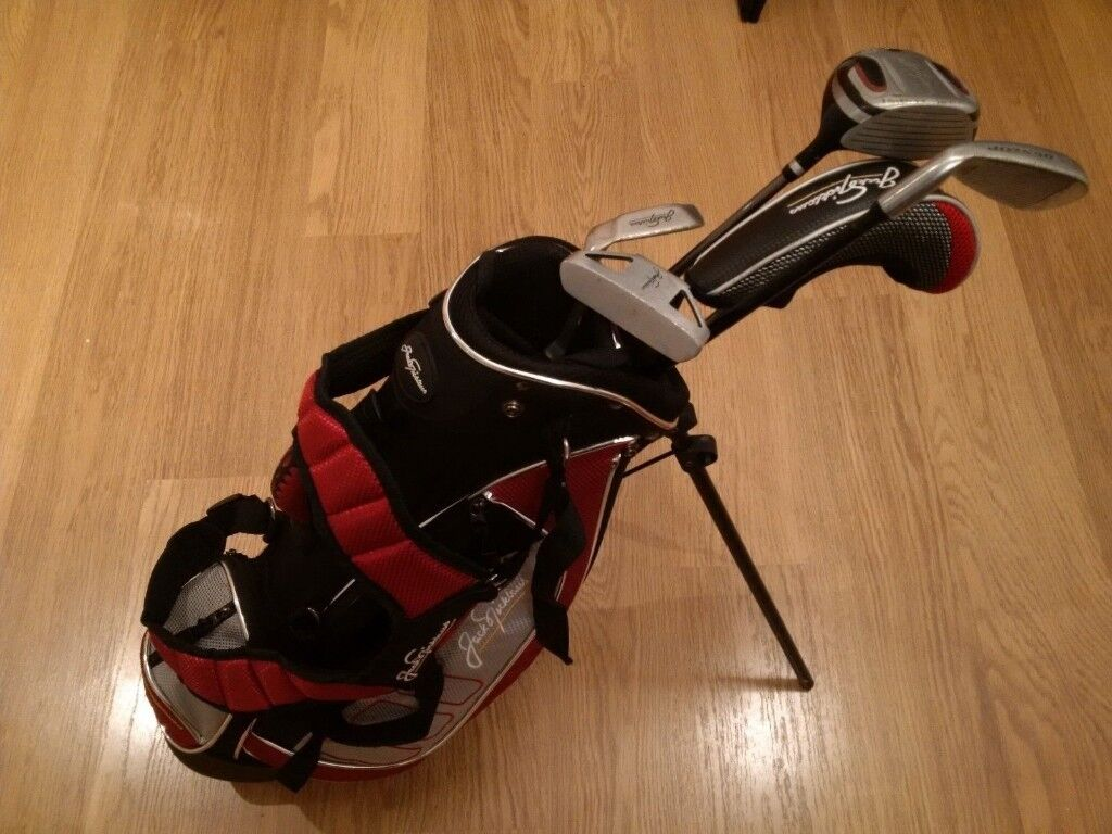jack Nicklaus kids Junior Golf Clubs & stand bag set good condition | in  Hucclecote, Gloucestershire | Gumtree