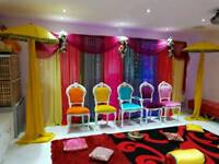 Chair covers for Hire & Wedding & Mehndi Stages
