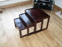 Nest of 3 occassional side tables