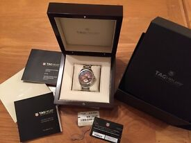 Tag Heuer Frand Carrera GMT Calibre 8. Just full serviced by Tag Heuer at £395, perfect condition.