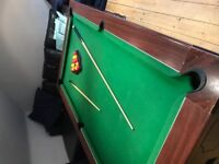 Pub full size pool table free collector dismantles and collects