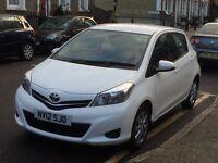 Toyota Yaris Hatchback 2012 1.33 VVT-I TR WHITE LOW MILEAGE