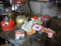 Various paraffin stoves & Tilley lights etc.