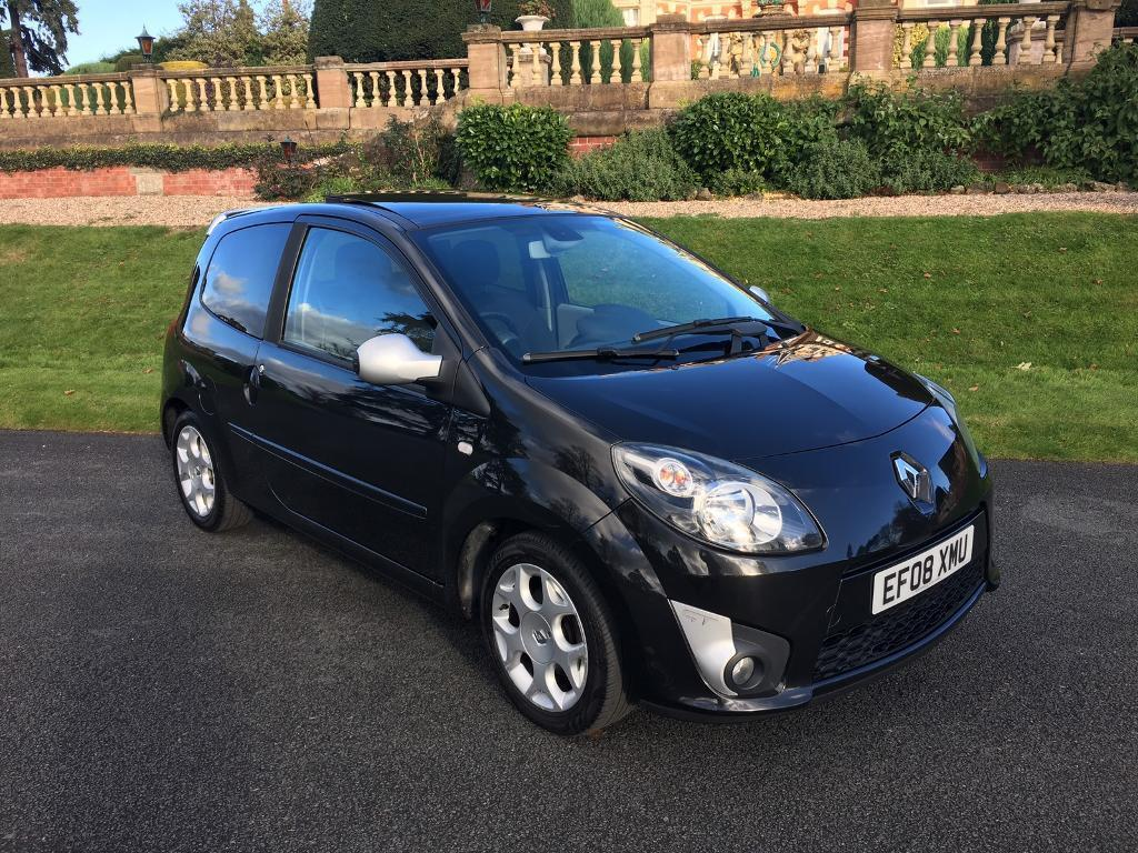 2008 renault twingo 1 2 gt tce 100 black renault service history panoramic sun roof in. Black Bedroom Furniture Sets. Home Design Ideas