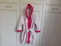 Girl's dressing gown aged 4-5 years