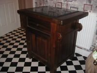 SOLID OAK, RUSTIC KITCHEN ISLAND. OFFERS CONSIDERED.