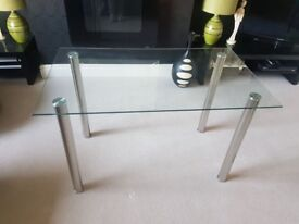 BRAND NEW Glass Rectangular Dining Table (Sits 6) SOLD