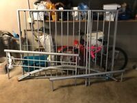 Double bed frame (siliver) very good condition.