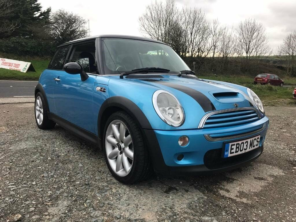 Mini Cooper S 1 6 Supercharged Blue R 2003 Leather