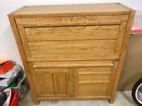 M&S Sonoma Oak Bureau / Drinks Cabinet / Bookcase / Office Furniture / Unit