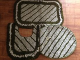 3 Piece Bath Mat Set
