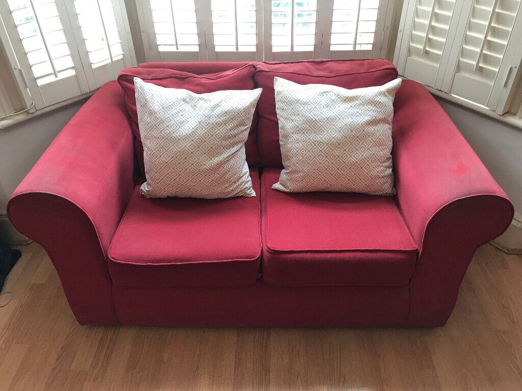 Excellent Small Red Two Seater Fabric Sofa In Shepherds Bush London Gumtree Pdpeps Interior Chair Design Pdpepsorg