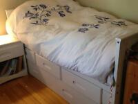 5 piece Captain's Bedroom Suite with trundle and mattresses