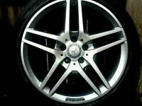18 inch 5x112 genuine staggered Mercedes AMG E Class W212 alloys wheels
