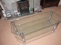 Large Plate Glass TV table
