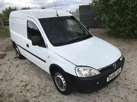 2008 vauxhall combo van with side loading door, 1700 Cdti 1.3 diesel - NEW mot may 2018