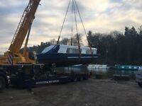 Widebeam liveaboard houseboat broads cruiser London