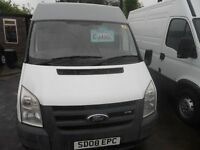 FORD TRANSIT T 260 SEMI HIGH TOP 08 REG MAY TEST 90,000 MILE BIRTLEY CAR SALES DH3 1PR