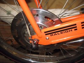 Early 1970s Raleigh Chopper MK1 orange restored like new cables new tyres and tubes