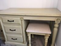 Victorian antique dressing table and stool