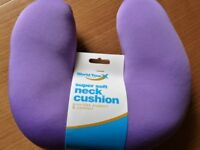 SUPER SOFT NECK CUSHION. (For Air Travel, TV and Reading) Light Purple Colour - NEW (Unwanted Gift)