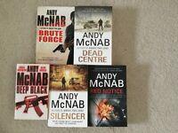 Andy McNab Books x 5