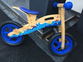 Lego duplo table and wooden balance bike