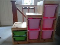 Ikea Childrens Trofast Storage Unit with drawers