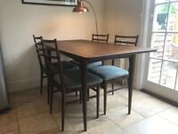 Beautiful Wooden Dining Table & 4 upholstered chairs- URGENT needs to go by Sunday 27th May