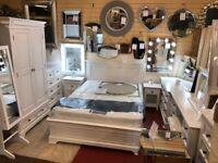 Elegant Bali Banbury white 2 drawer bedside £119