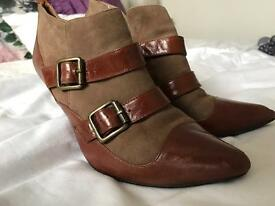 Brown leather and suede boots size 5 from Office