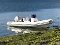 Avon 620 adventure rib boat 150hp Honda outboard