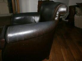 Tetrad Brown Leather Armchair