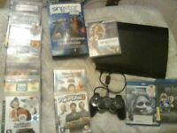 Playstation 3 / 8 games / 2 bluerray dvds/ Singstar game and microphones