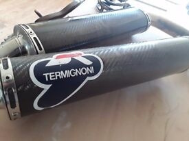 Ducati 996 termi carbon exhausts