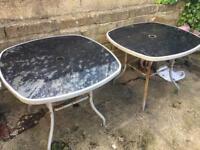 X2 garden tables