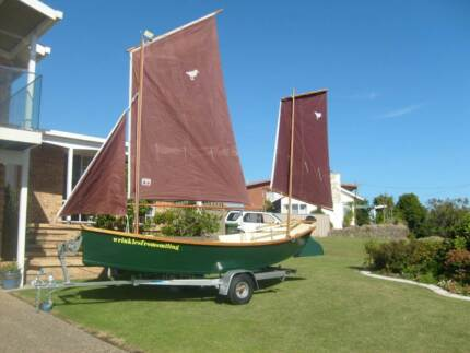 Classic Timber Sail/Row Boat