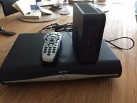 SKY plus HD box, Sky Hub (router), microfilter, remote, cables, good condition