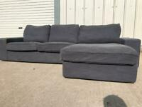 Grey corner sofa, couch, suite, furniture 🚚🚛