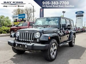 2016 Jeep WRANGLER UNLIMITED SAHARA, 4x4, GPS NAV, SIDESTEPS, RE