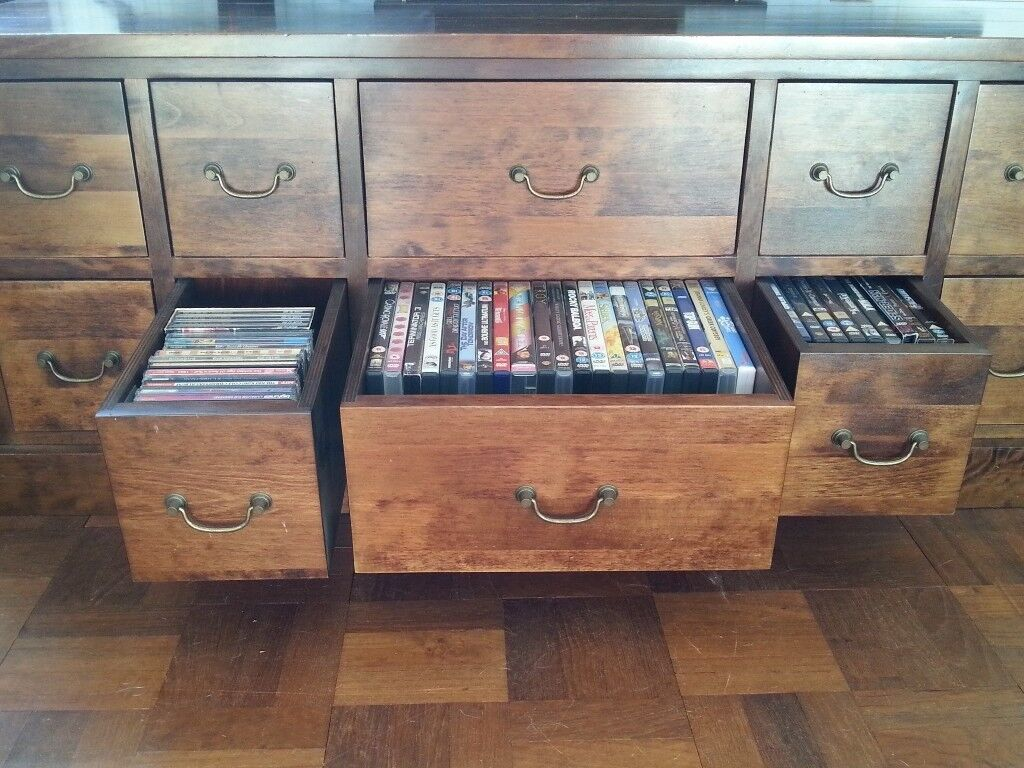 Storage Trunk Coffee Table Chest Draws Dvd Cd